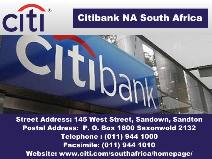 Citibank NA South Africa
