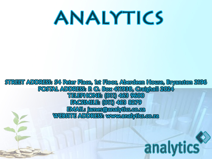 Analytics (Pty) Ltd