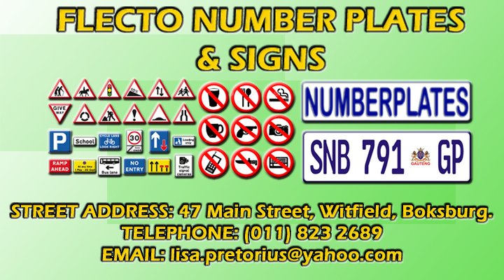 Flecto Number Plates & Signs cc