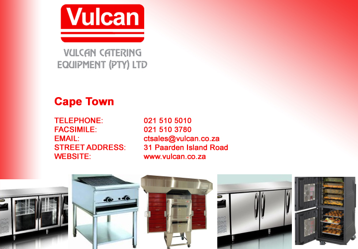 Vulcan Catering Equipment- Cape Town