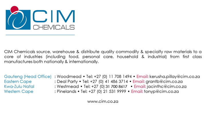 CIM Chemicals (Pty) Ltd- Gauteng